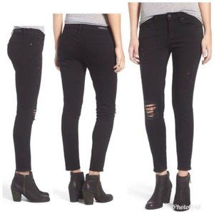 ARTICLES OF SOCIETY Sarah Black Cast Skinny Jeans